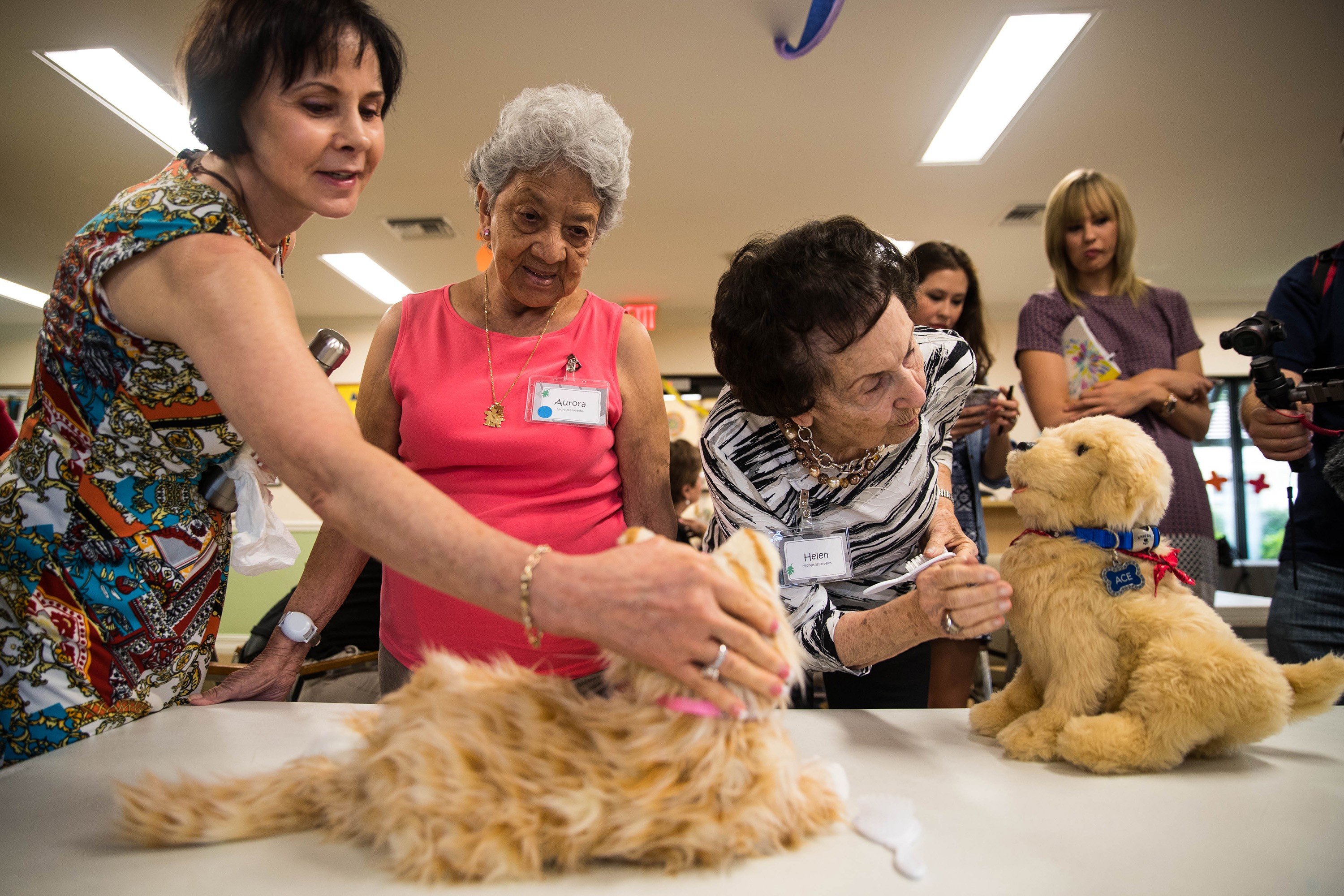 Mechanical cats and dogs make great pets for dementia