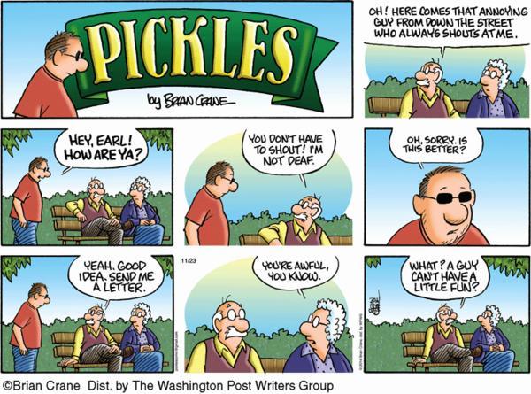 Pickles Cartoon for Nov/23/2014