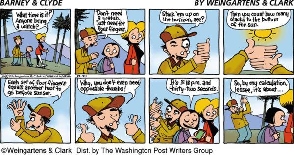 Barney & Clyde Cartoon for Dec/21/2014