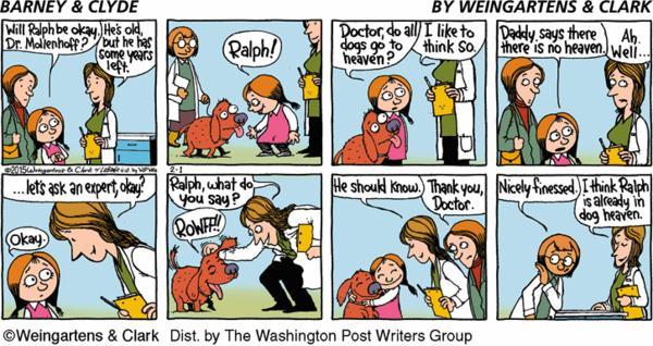 Barney & Clyde Cartoon for Feb/01/2015