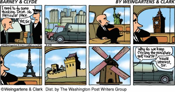 Barney & Clyde Cartoon for Mar/29/2015