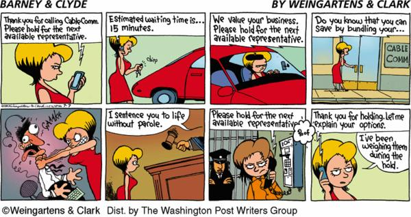 Barney & Clyde Cartoon for Jul/07/2013