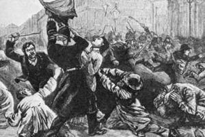 Artist's rendering of Bloody Sunday